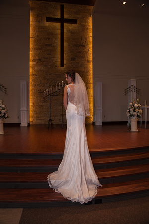 A Bride wears a wedding dress that fits her vision of her dream dress