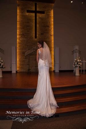 A formal church Bridal Portrait