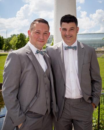 Two Grooms  St. Paul Wedding Photographer