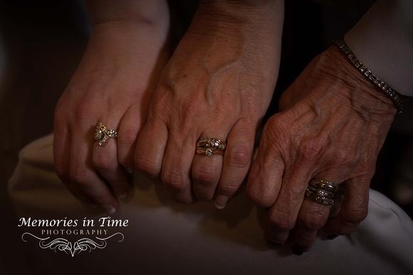Three generations of wedding rings Crystal Lake Golf Club