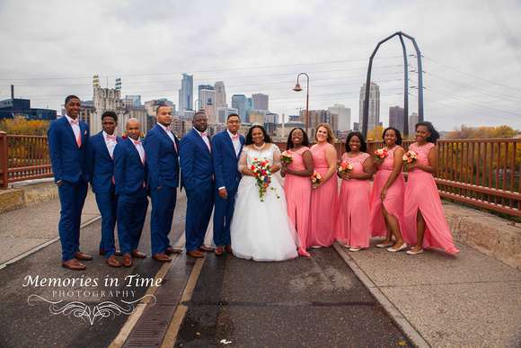 Minnesota Wedding Photographer | Shoreview Community Center | The bridal party