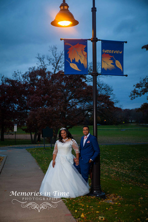 Minnesota Wedding Photographer | Shoreview Community Center | A portrait of the couple
