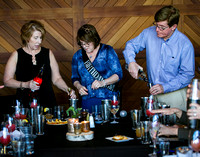 Images from a cocktail mixology class at 6Smith in Wayzata, Minnesota