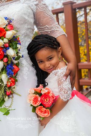 Minnesota Wedding Photographer | Shoreview Community Center | The little flower girl