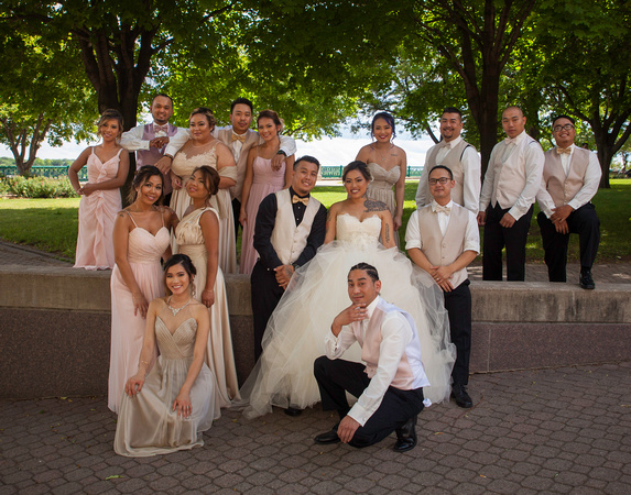 St. Paul Wedding Photographer | InterContinental Hotel | An Amazing Bridal Party